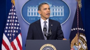 President Obama addressing the nation about the Newtown shooting (AP/Carolyn Kaster)