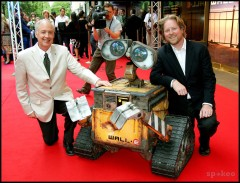 Ben Burtt and director Andrew Stanton at the French premiere of Wall-E