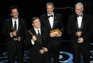 Bill Westenhofer and colleagues on the Oscar stage