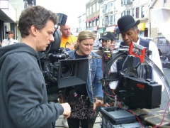 Michel Gondry and Ellen Kuras on set of Be Kind Rewind