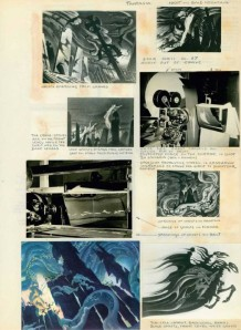 A page from the Lost Notebook showing work on Fantasia