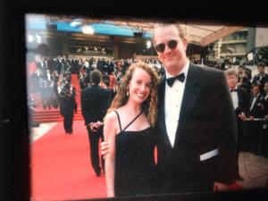 Matt Myers on the red carpet at Cannes with his wife Jacqueline Bussie