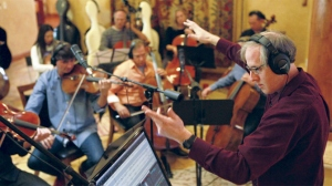 Jeff Beal conducting string ensemble for House of Cards