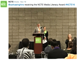 With NCTE President Susan Howser at #NCTE16
